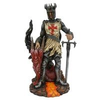 Statuette Dragon Aédan et Chevalier (H30 x L18cm)