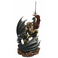 Statuette Dragon Baglan et Chevalier Templier (H56 x L26cm)