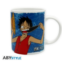 ONE PIECE - Mug - 320 ml - Luffy & Emblème