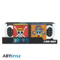 ONE PIECE - Set 2 mini mugs - 110 ml - Luffy & Nami emblèmes