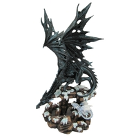 Statuette Dragon Heilyn (H48 x L28cm)