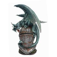 Statuette Dragon sur Heaume