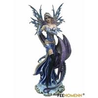 Statuette Fée Elawen et Dragon Ewen (H68 x L30cm)