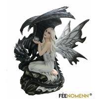 Statuette Fée Dairine et Dragon Déron (H36 x L35cm)