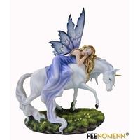Statuette Fée Violetta et sa licorne (H30 x L35cm)