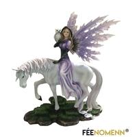 Statuette Fée Caterina et son cheval (H37 x L22cm)