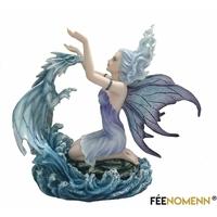 Statuette Fée Edana et son Dragon (H27 x L30cm)