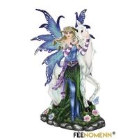 Statuette Fée Fragane et sa Licorne (H24 x L15cm)