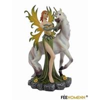 Statuette Fée Quériell et sa Licorne (H20 x L15cm)