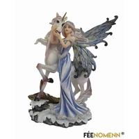 Statuette Fée Ryna et sa Licorne (H20 x L15cm)