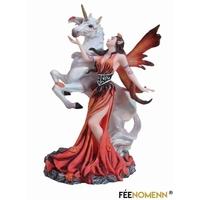Statuette Fée Ulaenn et sa Licorne (H20 x L15cm)
