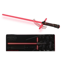 STAR WARS - Sabre Laser Kylo Ren (Poignée en Métal) - Force FX Deluxe - Collector Black Series