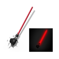 STAR WARS - Lampe décorative 3D Sabre laser Dark Vador