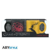 GAME OF THRONES - Set 2 mini mugs - 110 ml - Targaryen & Baratheon