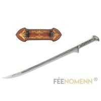 LE HOBBIT - Réplique Épée THRANDUIL (version avec support)
