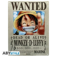 "ONE PIECE - Plaque métal ""Luffy Wanted"" (30x40cm)"