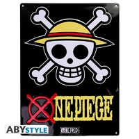 "ONE PIECE - Plaque métal ""Skull - Luffy"" (30x40cm)"