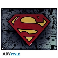 """DC COMICS - Plaque métal """"Superman"""" (30x40cm)"""