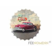 Capsule Métal Vintage -  Motel Vacancy 66 (Diam. 40cm)