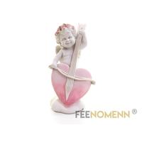 Statuette Ange Musicien Coeur