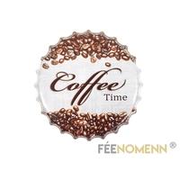 Capsule Métal Vintage - Café - it's Coffee Time (Diam. 40cm)