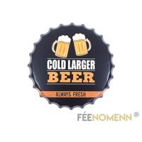 Capsule Métal Vintage - Cold Larger Beer (Diam. 40cm)