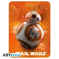 STAR WARS - Plaque métal BB8 (30x40)