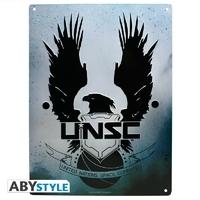 """HALO - Plaque métal """"UNSC"""" (30x40)"""