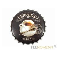 Capsule Métal Vintage - Espresso Café N°1 (Diam. 40cm)