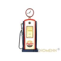 Déco Horloge Vintage en Métal - Pompe à Essence - Station Service (85x40cm)