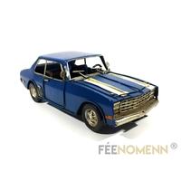 Voiture Métal Deco Vintage - Ancienne Chevelle Bleue 1960 (25x10cm)