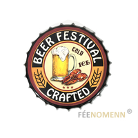 Capsule Métal Vintage - Beer Festival - Bière Artisanale (Diam. 40cm)