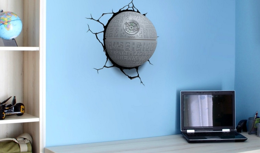 Star Wars Lampe Decorative 3d Etoile Noire Deco Accessoires