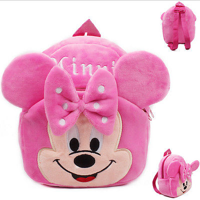 Sac à dos fille Minnie rose en peluche