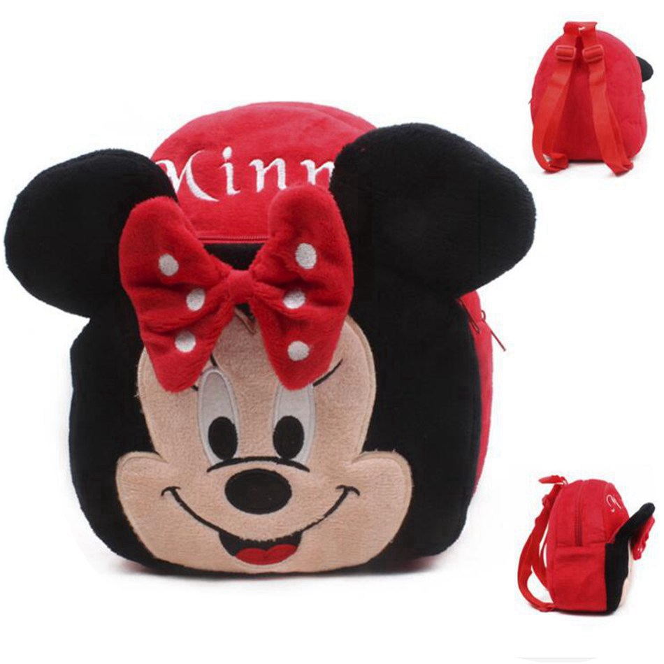 Sac à dos fille Minnie en peluche