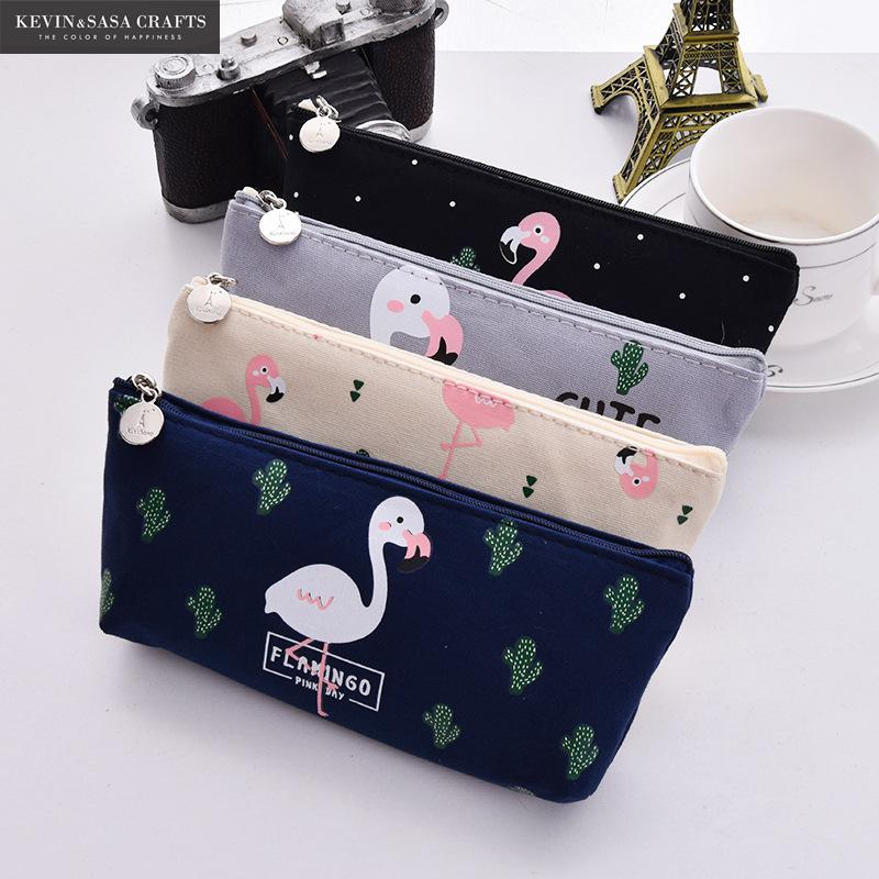 Trousse fille flamant rose