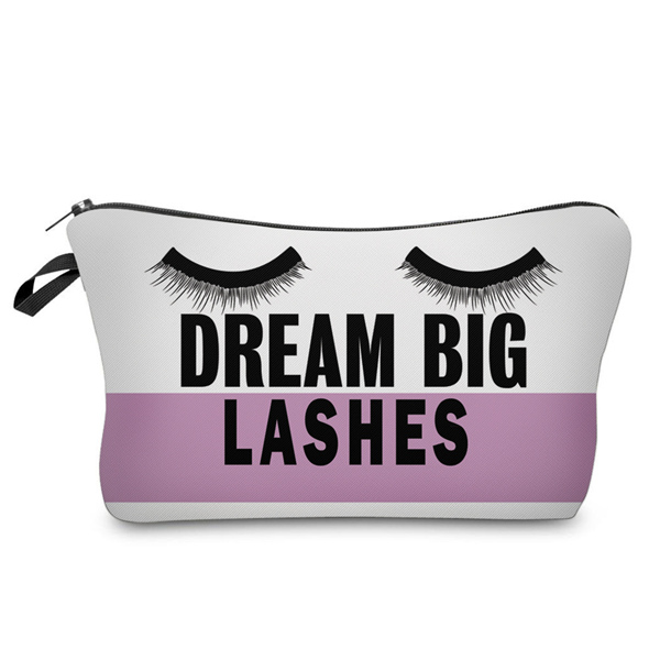 Trousse à maquillage motif Dream Big Lashes