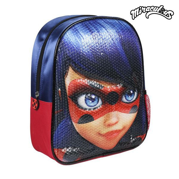 Sac à dos fille Miraculous lady bug bleu