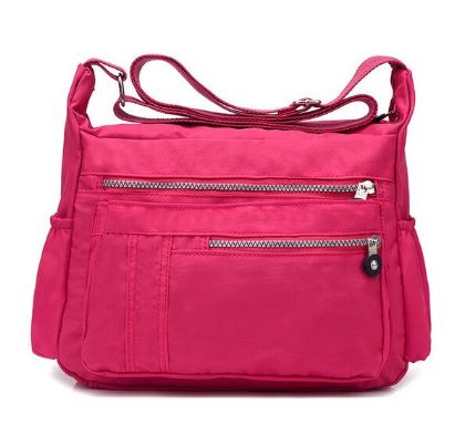 Sac à main multipoches rose fushia