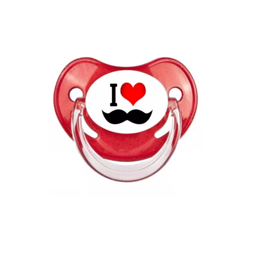 Tétine I love moustache