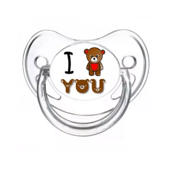 Tétine I love you motif ourson