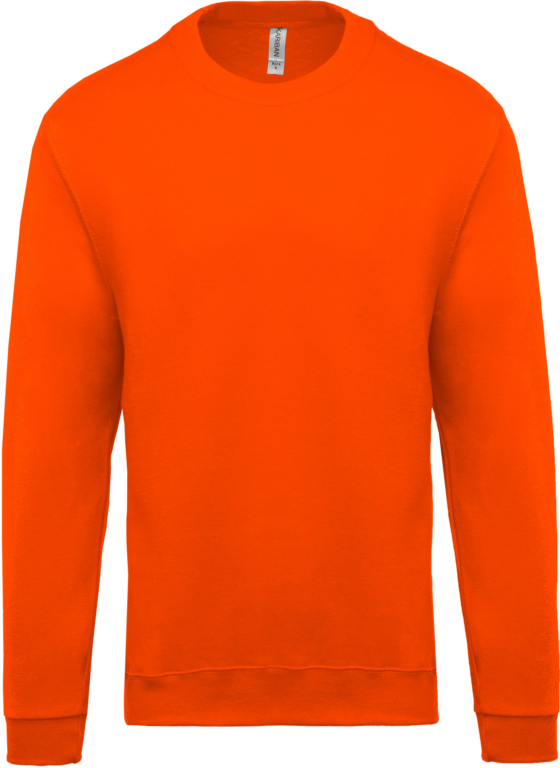 Sweat col rond orange personnalisable