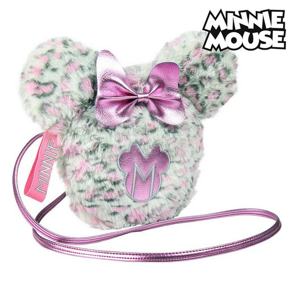 Sac à Bandoulière Minnie Mouse Rose Blanc