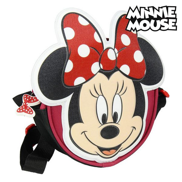 Sac à Bandoulière 3D Minnie Mouse 72882 Rouge