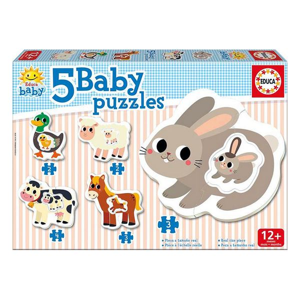 Set de 5 Puzzles Baby Farm Educa