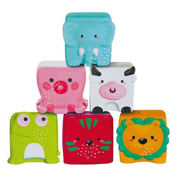 Blocs souples d\'Apprentissage Bath Toys (6 pcs)