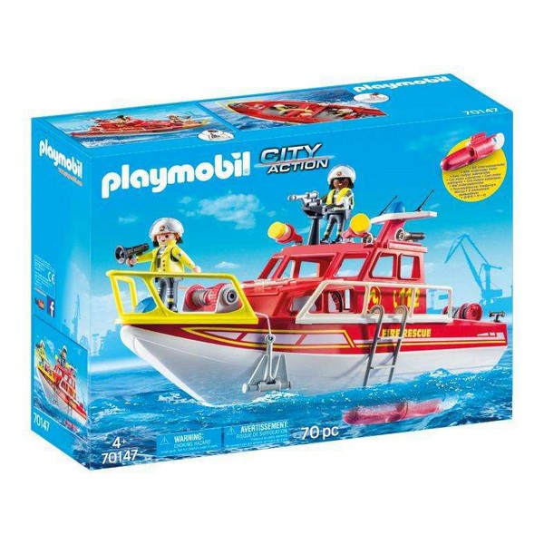 Playset City Action Rescue Boat Playmobil (70 pcs)