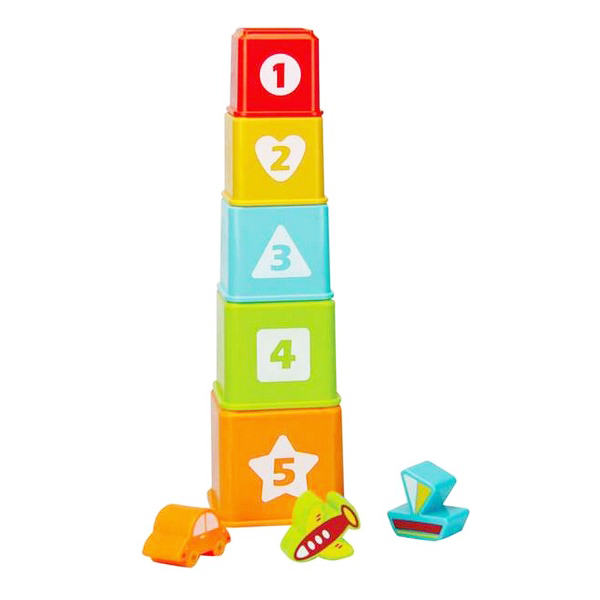 Blocs Empilables 8 pcs (1+ an)