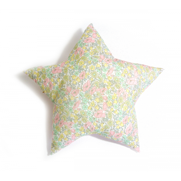 Coussin Etoile liberty Betsy Béryl