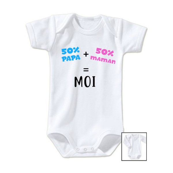 Body message 50% papa 50% maman 100% moi